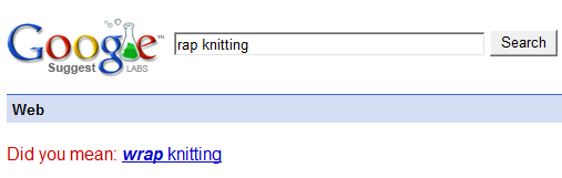 Wrap knitting