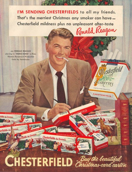 Ronald Regan loves a good smoke