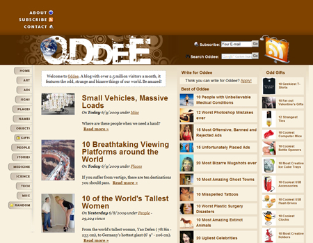 A Blog on Oddities: the odd, bizarre and strange things of our world!