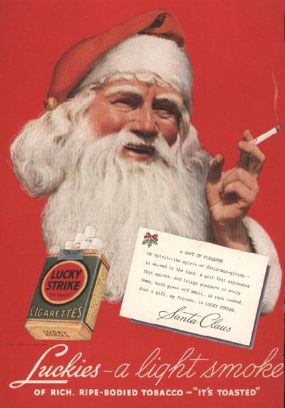 Does St. Nick get tired of being dragged in to be the posterboy for competing products?