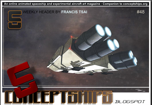 An online animated spaceship and experimental aircraft art magazine