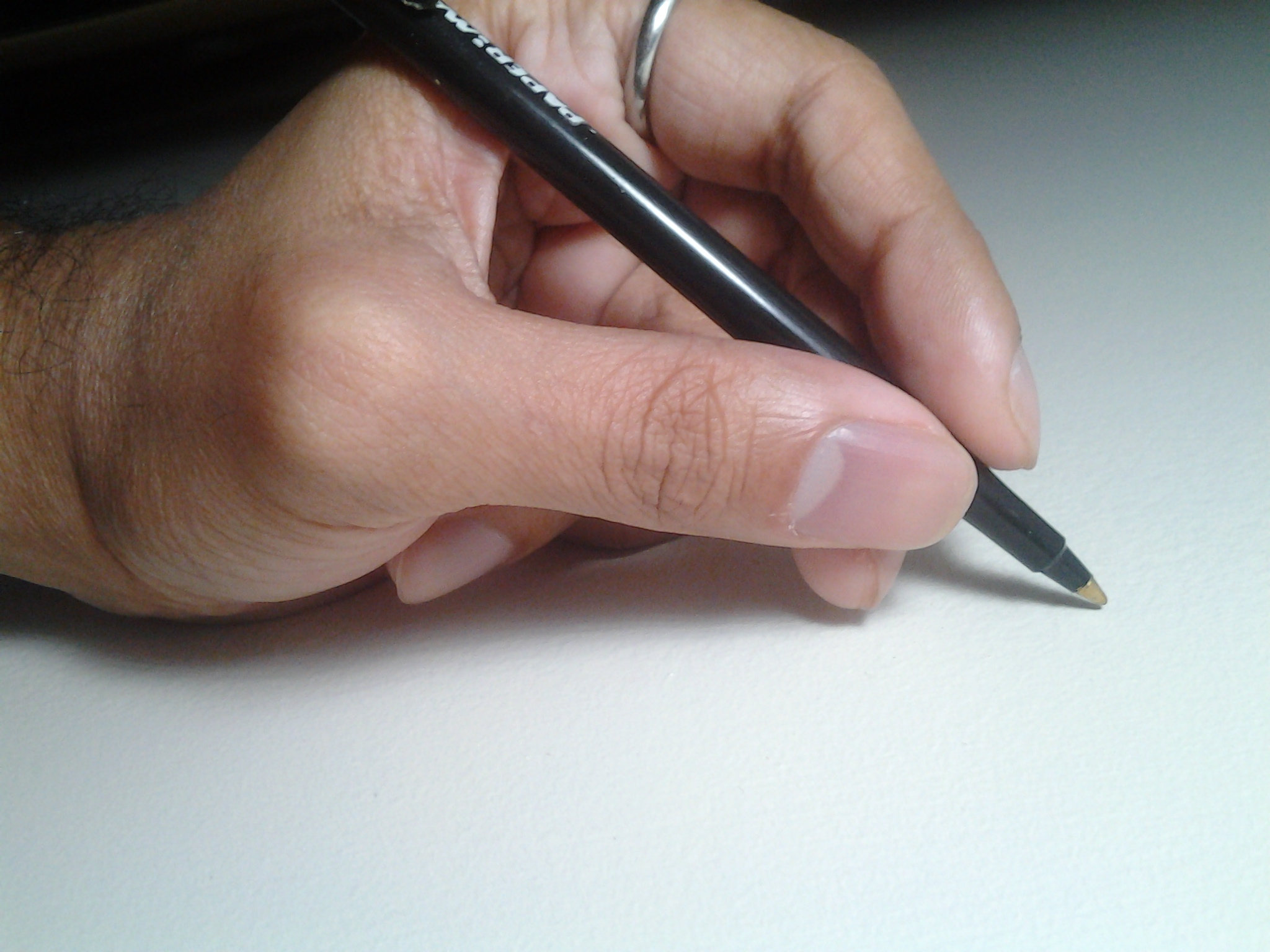Note How Little Effort Is Needed To Hold The Pen