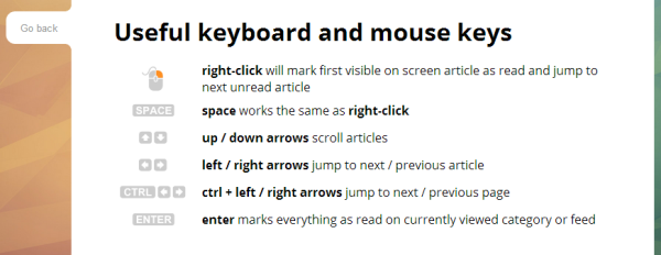 Keyboard shortcuts. I hope in future versions, these are customizable. The right click page forwarding really threw me off at first.